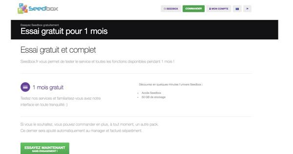 Seedbox gratuite Seedbox.fr