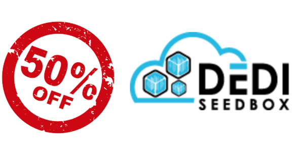 50% réduction DediSeedBox