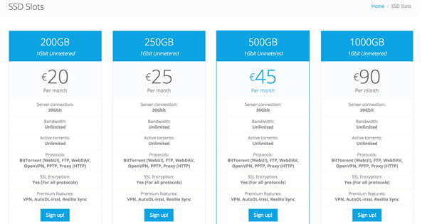 SSD Slot Seedbox.io