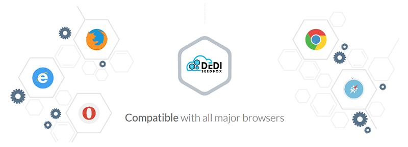 DediSeedBox navigateurs supportés