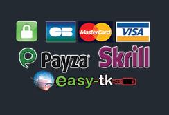 Moyens de paiement Easy-tk