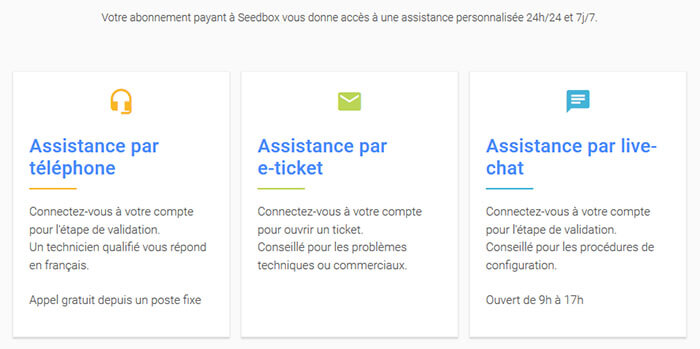 Support client Seedboxfr