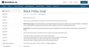 Black Friday Seedbox.io
